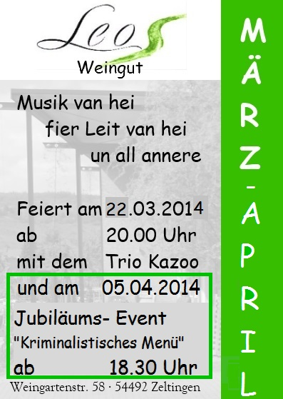 Flyer März-April 2014